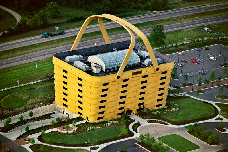 World's largest basket? The Longaberger Basket Building is a 160 times  duplicate of Longaberger company's signature product, the Medium Market  Basket.
