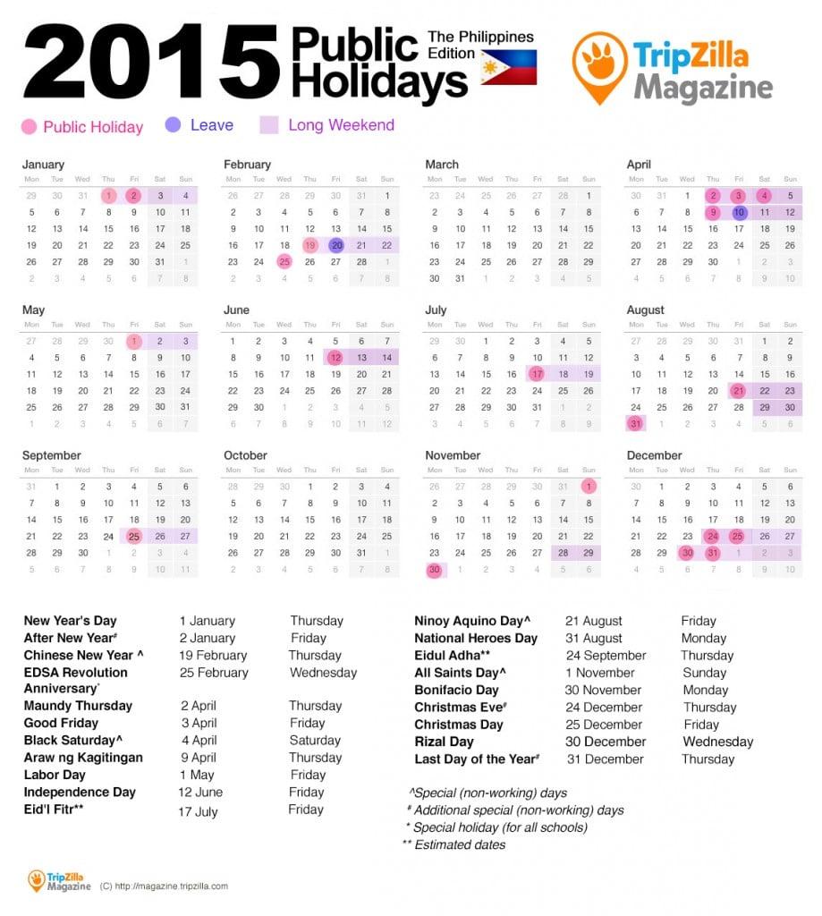 calendar 2015PH