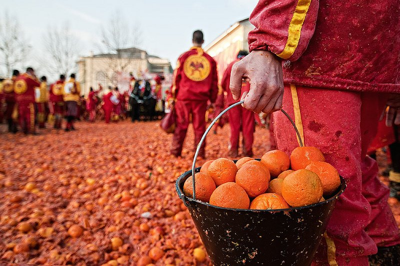 Image result for italy orange fight
