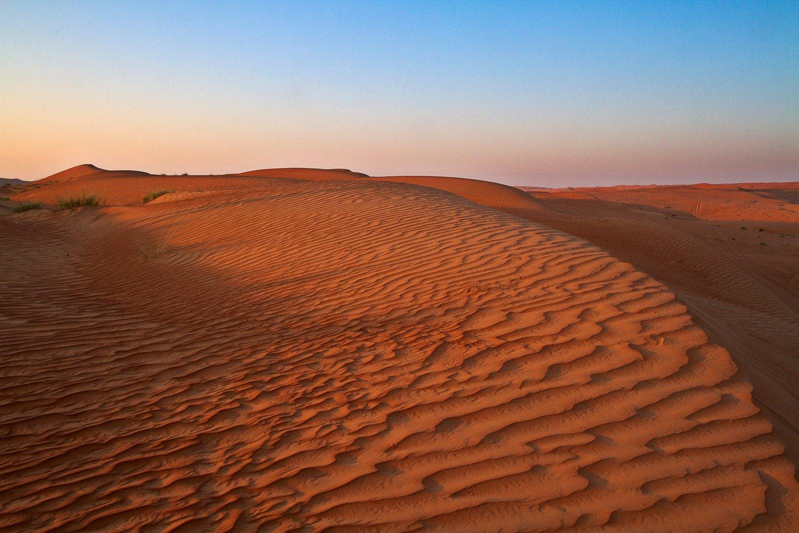 Sunrise at Wahiba Sands, Oman