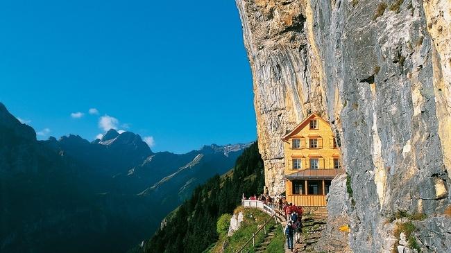 Berggasthaus Aescher-Wildkirchli: Cliffside Guesthouse in the Swiss Alps