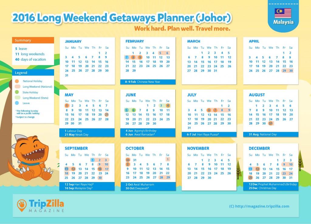 Calendar MY Update - Johor