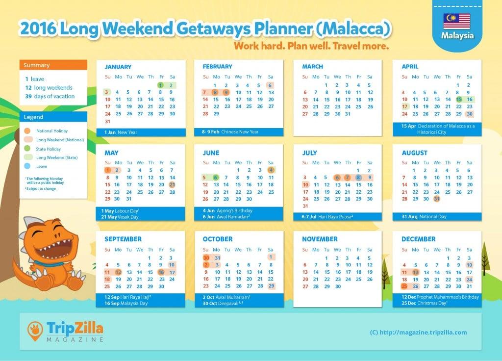 Calendar MY Update - Malacca
