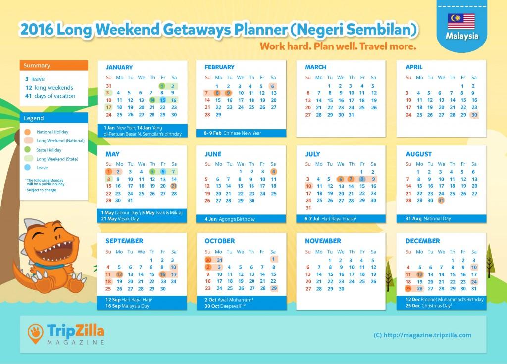 Calendar MY Update - Negeri Sembilan