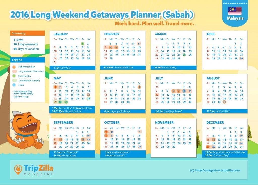 Calendar MY Update - Sabah