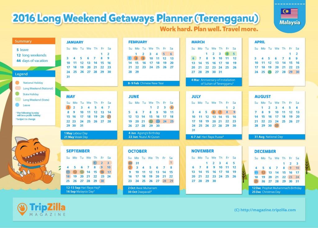 Calendar MY Update - Terengganu