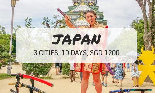 japan on a budget