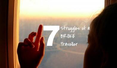 broke traveller struggles
