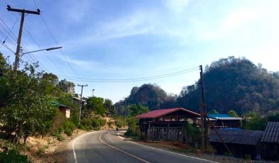mae hong son village up in mountains