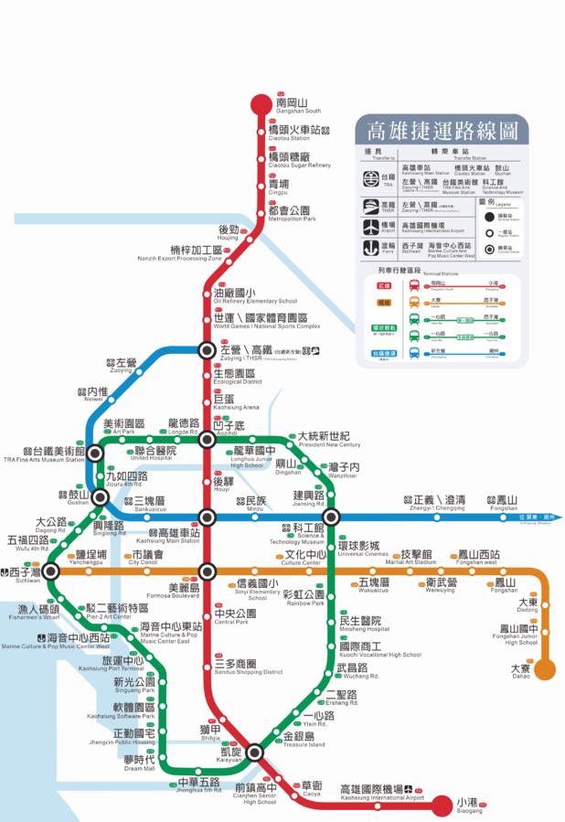 高雄捷運路網