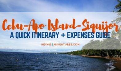 cebu apo island siquijor itinerary expenses