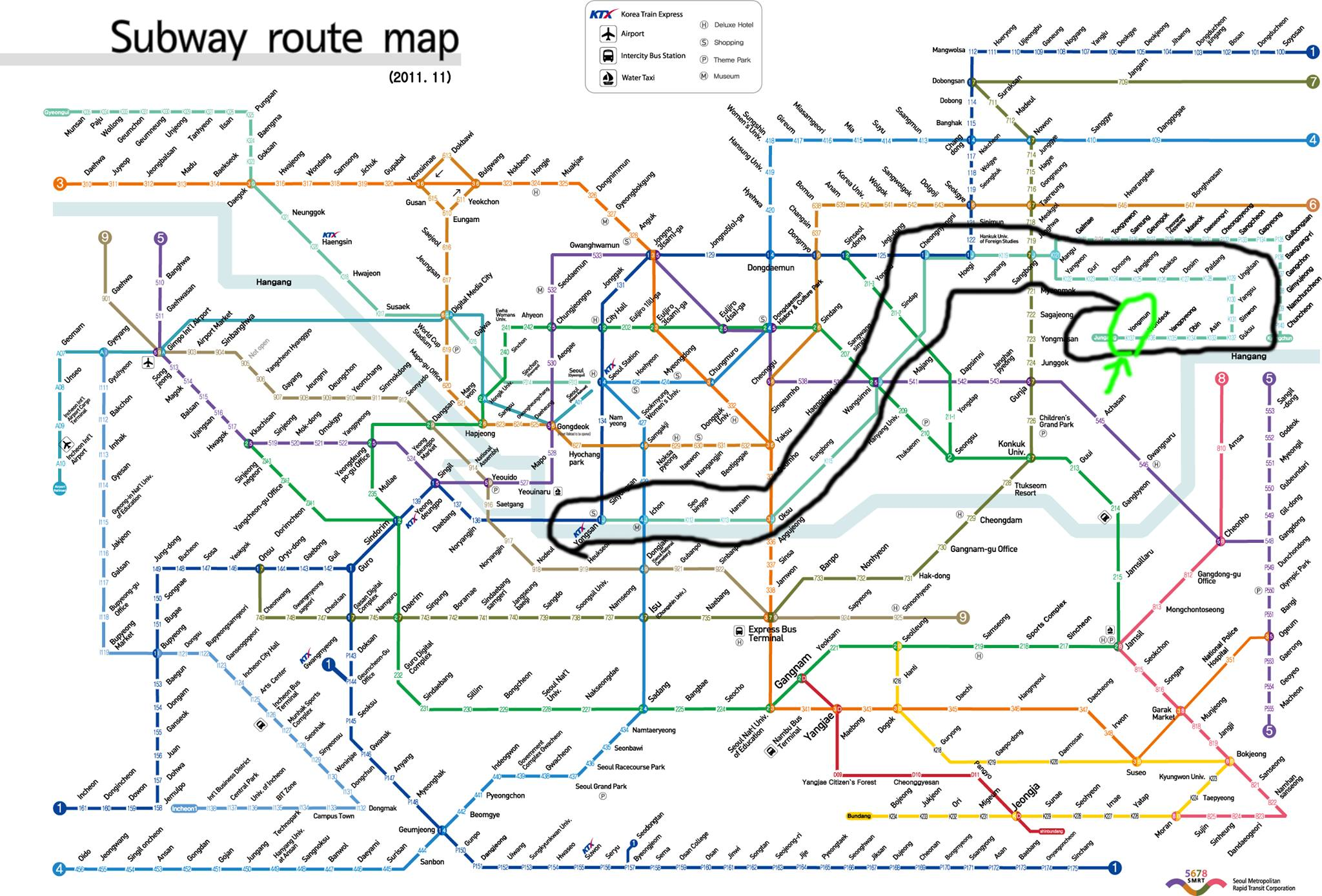 Eoul Subway Map.Seoul Subway Map Tripzilla