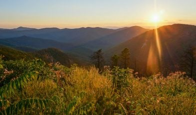 Sunset from Brown Mountain Overlook, Shenandoah National Park