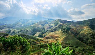 Sunlit Hills of Northern Thailand
