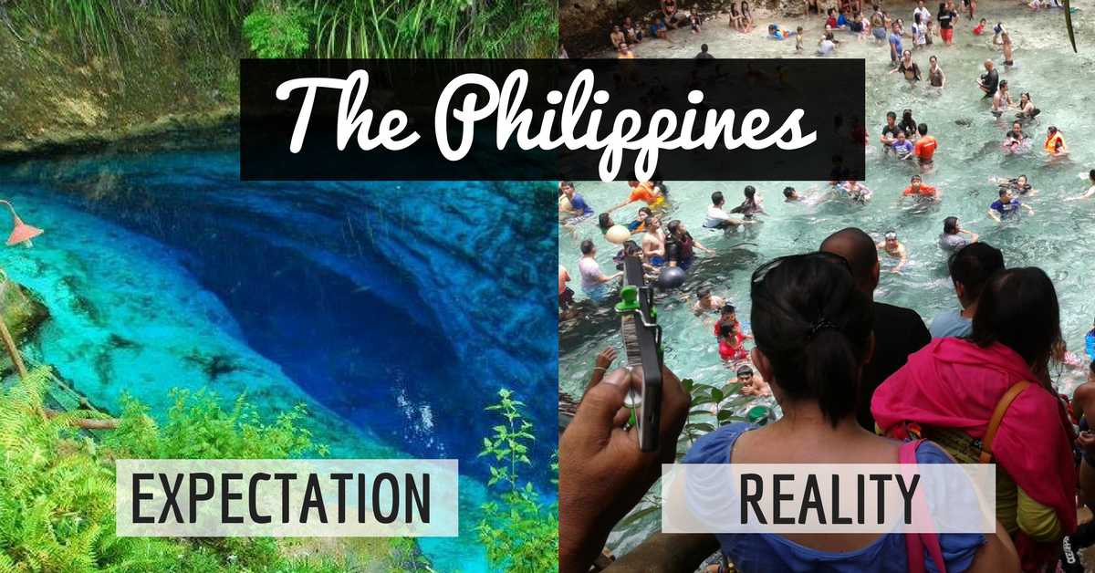 Expectation VS Reality The Philippines - 20 photos that sum up your travel expectations vs reality
